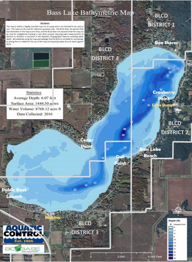 Lake Maps :: Bass Lake Conservancy District